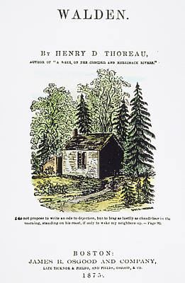Thoreaus Cabin Painting - Thoreau Walden, 1875 by Granger