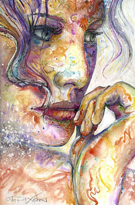 Female Mixed Media - Thoughts by Frank Robert Dixon