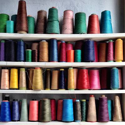 Colorful Photograph - Threads by Julie Gebhardt