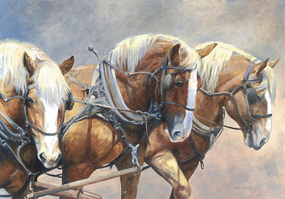 Painting - Three Abreast by Bethany Caskey
