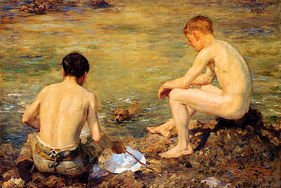 Three Companions Original by Henry Scott Tuke
