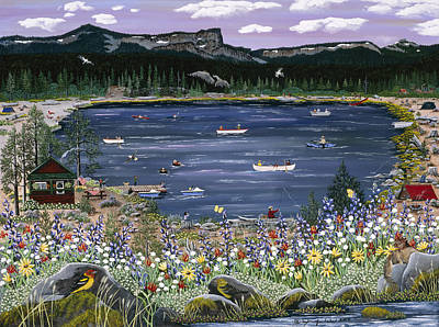 Painting - Three Creeks Lake by Jennifer Lake