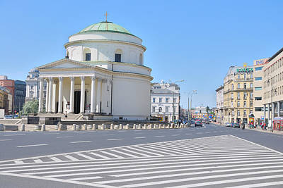 Church Photograph - Three Crosses Square by Steven Richman
