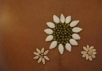 Three Flowers Art Print by Jon Simmons