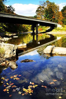 West Fork Photograph - Three Forks Bridge Williams River by Thomas R Fletcher