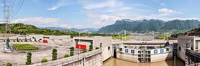 Three Gorges Dam, Yangtze River Art Print