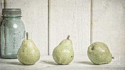 Food And Beverage Royalty-Free and Rights-Managed Images - Three Pear by Edward Fielding