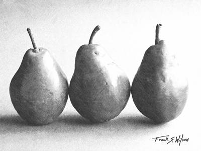 Photograph - Three Pears by Frank Wilson