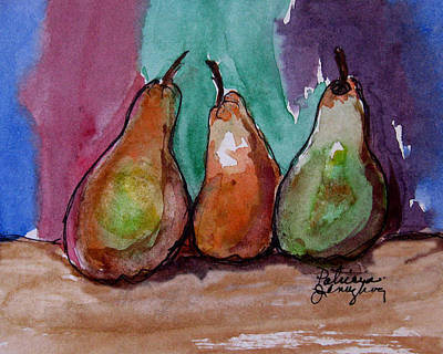 Painting - Three Pears by Patricia Januszkiewicz