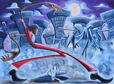 African American Art Painting - The Thriller by Tu-Kwon Thomas