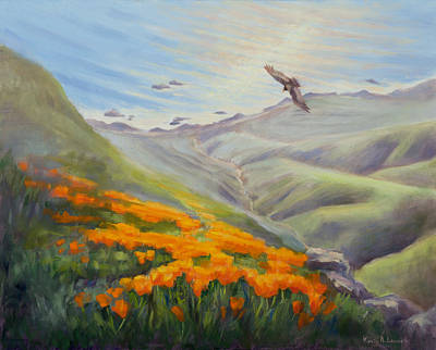 Condor Painting - Through The Eyes Of The Condor by Karin  Leonard