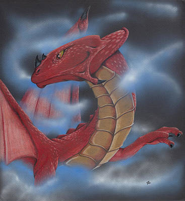 Dragon Painting - Into The Mist by Joe Burgess
