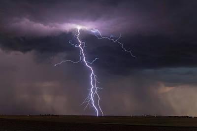 Thunderstorm At Dusk Art Print by Roger Hill
