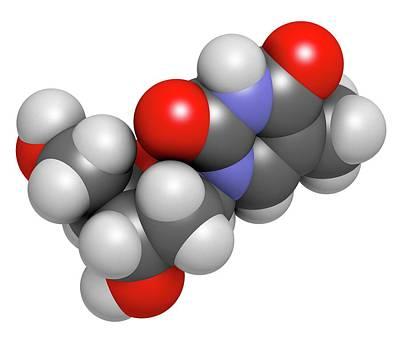 Nucleoside Photograph - Thymidine Nucleoside Molecule by Molekuul