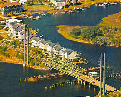 Topsail Island Photograph - Ti Swing Bridge Evening by Betsy Knapp