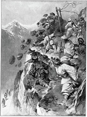 1904 Drawing - Tibet 1904 Mission by Granger