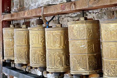 Photograph - Tibetan Prayer Wheels by Alison Wright