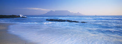 Tide On The Beach, Table Mountain Art Print