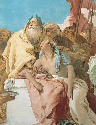 Tiepolo Giambattista, The Sacrifice Art Print by Everett