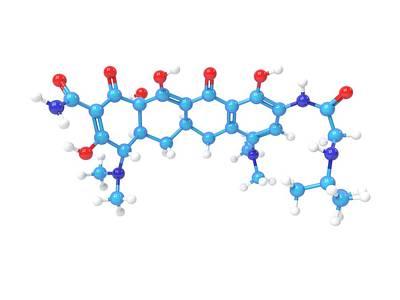 Tigecycline Antibiotic Molecule Art Print by Indigo Molecular Images