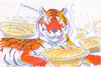 Drawing - Tiger Cartoon by Mike Jory