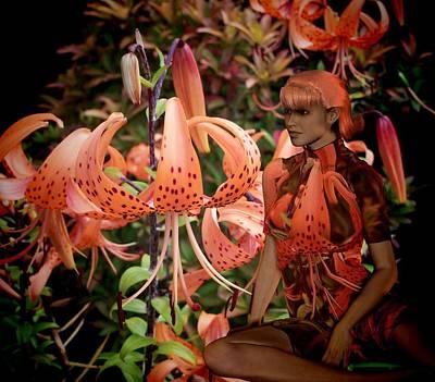 Digital Art - Tigerlily by Nancy Pauling