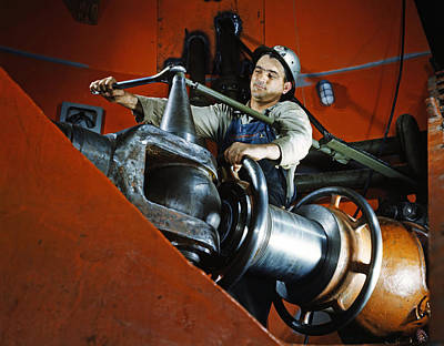 Tva Photograph - Tightening A Nut At Watts Bar Dam In Tennessee 1942 by Mountain Dreams