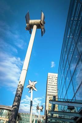 Art Installation Photograph - Tilted Windmills Sculpture by Dan Dunkley