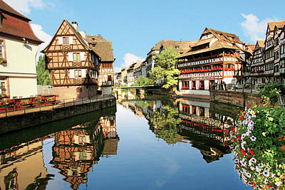 Alsace Photograph - Timbered Buildings, La Petite France by Miva Stock