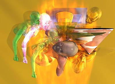 Digital Art - Time Travel #6_p by Stephen Donoho