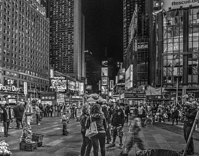 Photograph - Times Square 1503 by Jeff Stallard