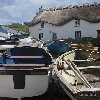 Tinker Taylor Cottage Sennen Cove Cornwall Print by Terri Waters