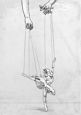 Marionettes Digital Art - Tiny Dancer by H James Hoff