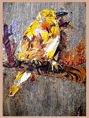 Friendly Mixed Media - Tired Bird by Basant Soni