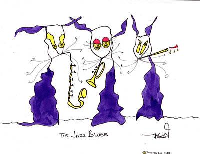 Painting - Tis Jazz Blues by Tis Art