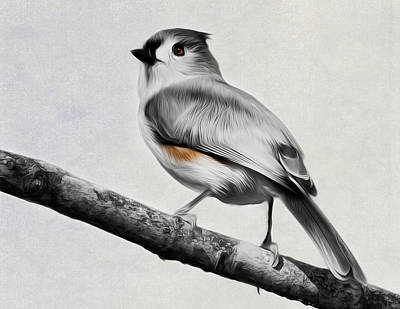 Digital Art - Titmouse by Bill Wakeley