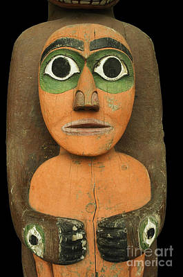 Tlingit Figure Art Print by Ron Sanford