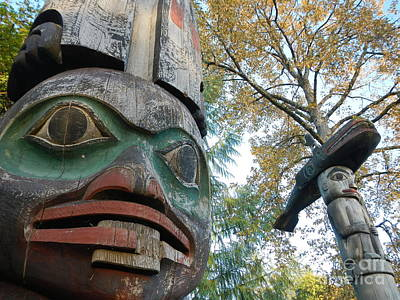 Print featuring the photograph Tlingit Totem by Laura  Wong-Rose
