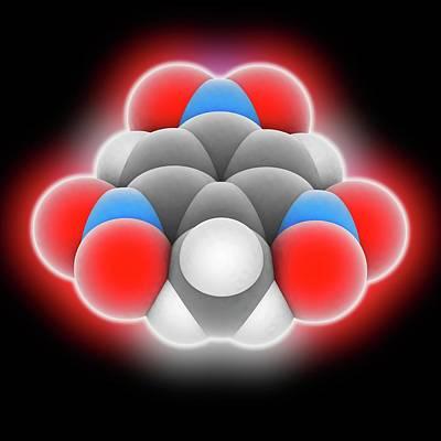 Tnt Photograph - Tnt Molecule by Laguna Design