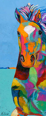 Colorado Artist Tracy Miller Painting - Tobiano by Tracy Miller