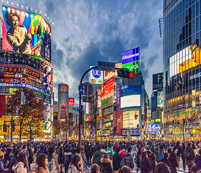Tokyo Photograph - Tokyo Japan Shibuya Crossing by Cory Dewald