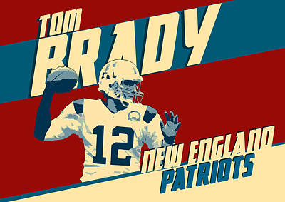 Gillette Stadium Digital Art - Tom Brady by Taylan Apukovska