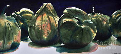 Painting - Tomatillos by Kathy Flood