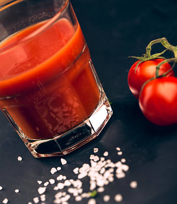Slate Photograph - Tomato Juice by Nailia Schwarz
