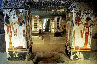 Mural Photograph - Tomb Of Queen Nefertari by Patrick Landmann/science Photo Library
