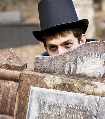 Hiding Photograph - Tomb Stone Peek A Boo by Jorgo Photography - Wall Art Gallery