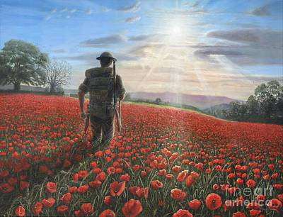 Poppies Field Painting - Tommy by Richard Harpum