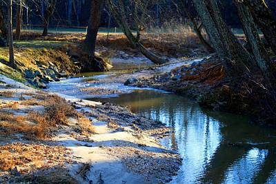 Photograph - Toms Creek In Winter by Kathryn Meyer
