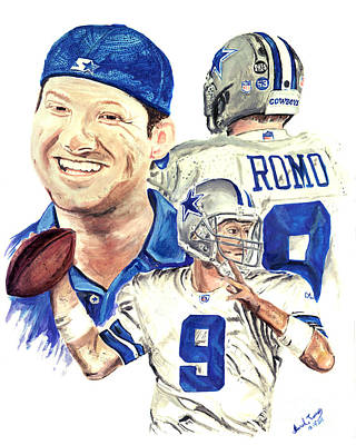 Troy Smith Painting - Tony Romo by Israel Torres