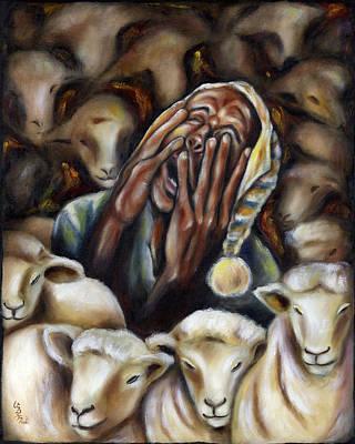 Nightcaps Painting - Too Many Sheep To Sleep by Hiroko Sakai